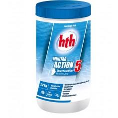 HTH Minitab Action 5 pot 1,2kg - chlore multifonction
