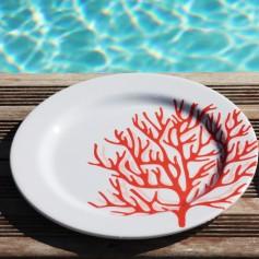 Set de 6 assiettes Corail Rouge - petite