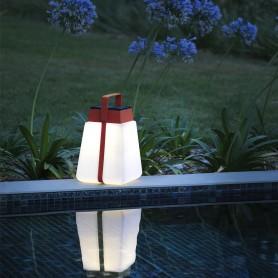 Lanterne solaire Nomade Bump rouge