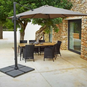 Cane-Line parasol Hyde Luxe 3x3 Anthracite