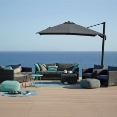 Cane-Line parasol Hyde Luxe 4x3 Anthracite