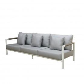 Canapé 3 places BASTINGAGE en aluminium avec accoudoirs Duratek