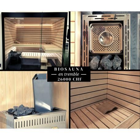 Sauna en tremble neuf 230x185cm