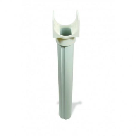 Pieds réhausseurs d'enrouleur de bâche à bulles pour piscine hors sol en aluminium : lot de 2