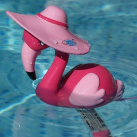 Thermomètre piscine Flamant rose