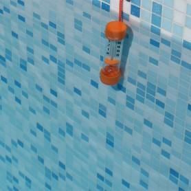 Thermomètre piscine tube plongeur : Orange, bleu ou vert suivant stocks