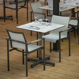 Chaise Empilable BASTINGAGE Aluminium gris espace