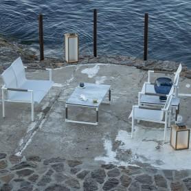 Table basse BASTINGAGE XL 60x110 en aluminium et HPL