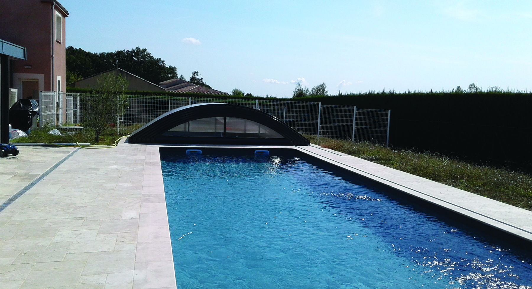 Abri de piscine bas Basci télescopique