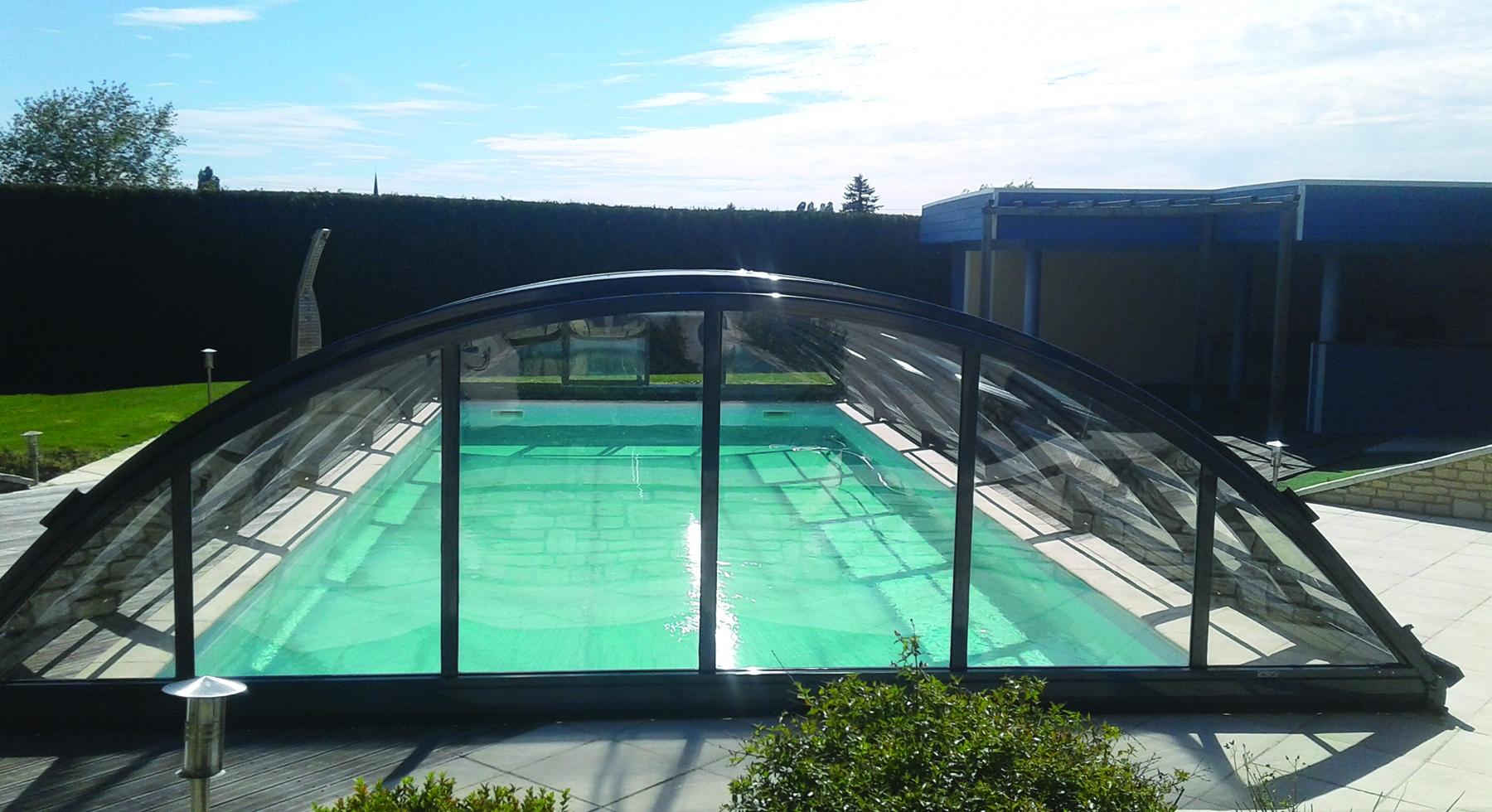 Abri de piscine Mio télescopique