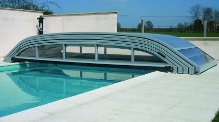 Abri de piscine bas Ansea télescopique