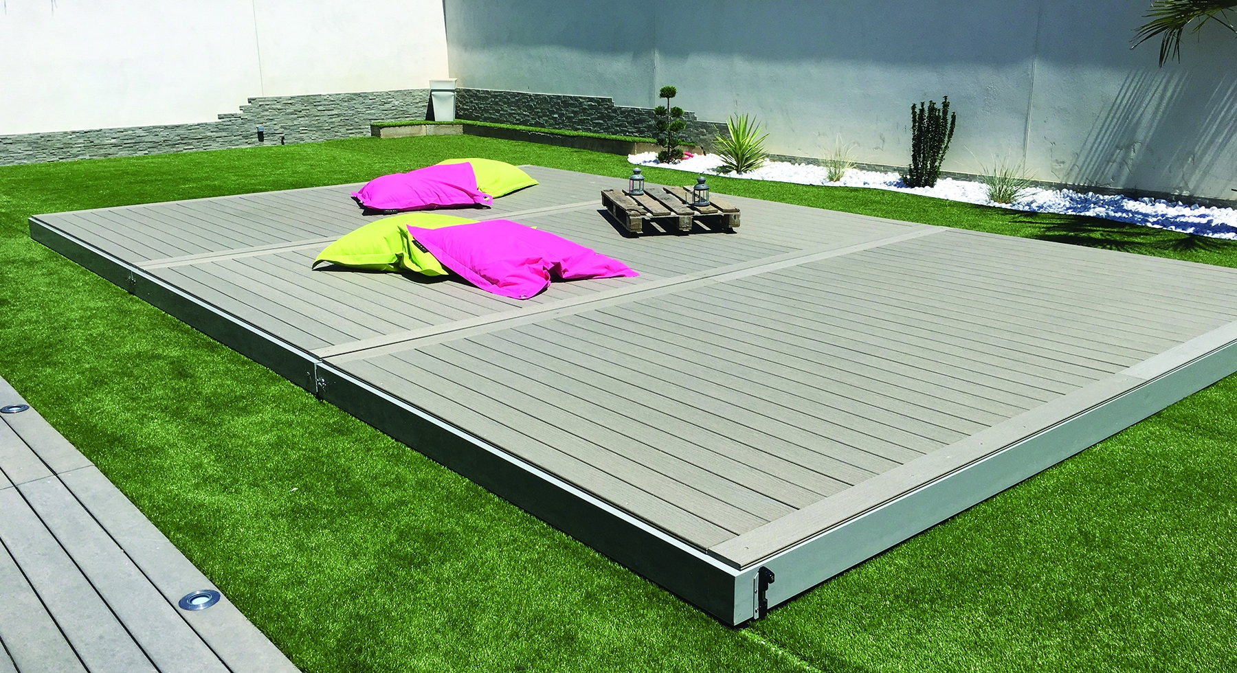 Terrasse mobile sur rails Stilys