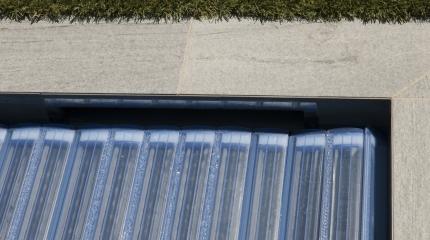 Couverture automatique Polycarbonate bleu