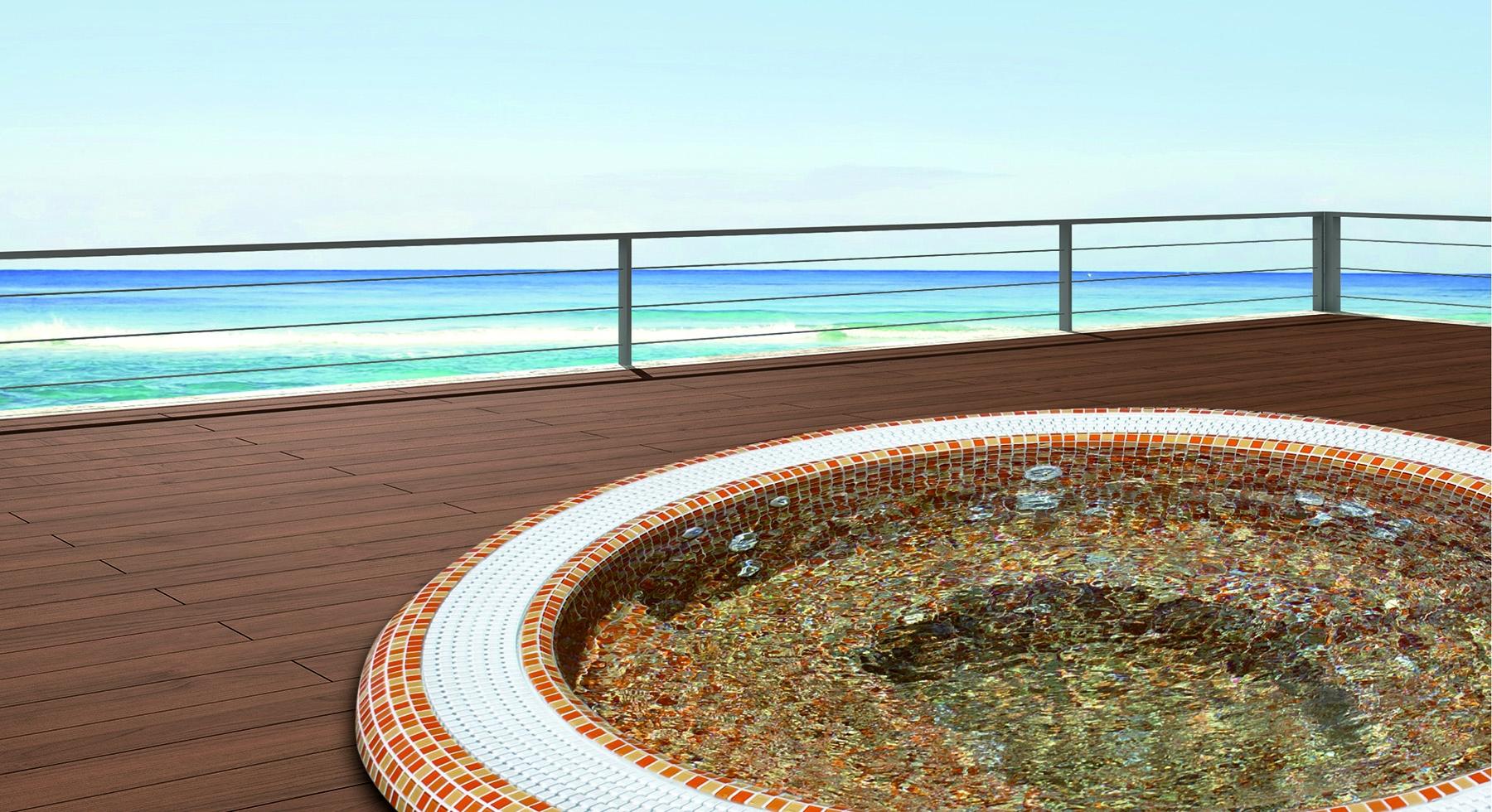 Spa Oasis mosaïque à débordement